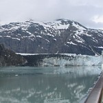 Our ship was able to get up close to some of the glaciers