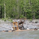 Fishing setups are a common sight on the Copper and the Klutina tributary