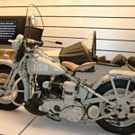 The US military used Harley-Davidsons in war and peace time