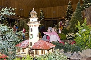 Trains, lights and miniature landmarks are an annual holiday tradition at the Chicago Botanic Garden in Glencoe