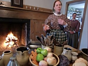 Ingrediants for an old-fashioned hearty meal are laid out at Wade House, ready for peeling, dicing, mixing and cooking