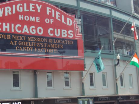 Wrigley Field is the back drop of Ferris Bueler's Day Off and other films shot in Chicago