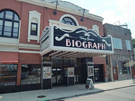 Today, the Biograph houses live theater but movies and television remember it as a move theater where the FBI tracked down bank robber John Dillinger