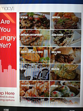 Restaurant choices and how to get there are on interactive kiosks