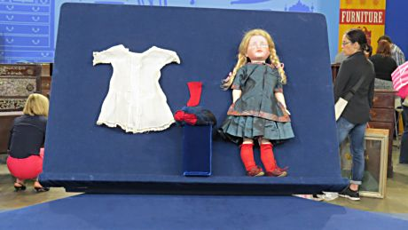 A century-old German doll with all its original clothes was worth much more than its owner thought.