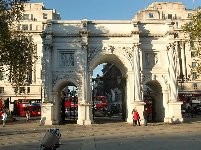 The Marble Arch is a Hyde Park landmark at Oxford Street and Park Lane
