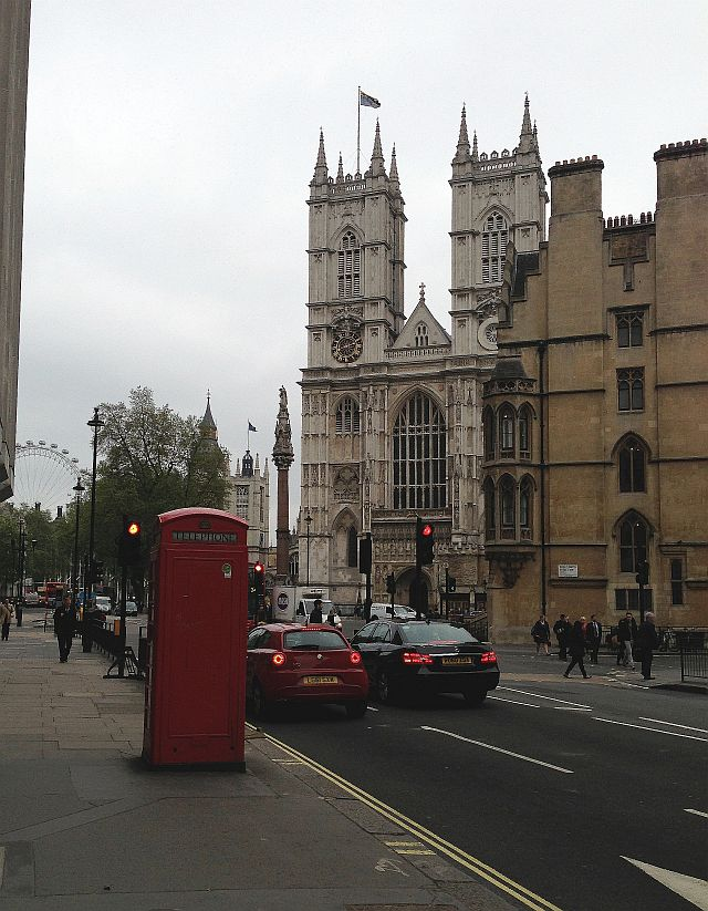 See Westminster Abbey, snap a red phone box and do The Eye (back) Ferris type wheel