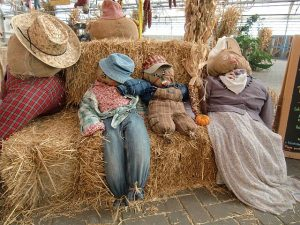 Scarecrows are fun to make and take home. Photo by Jodie Jacobs