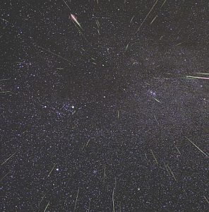 The Geminid meteor shower is greater than the Lyrids but meteor showers are still awesome to see. segment of a NASA photo