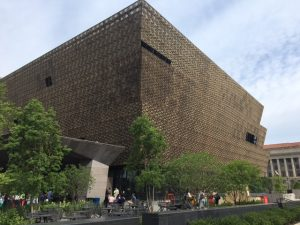 Designed by David Adjaye and Philip Freelonb, the National Museum of African AmericanHistory and Culture is a stunning building at 14th Street and Madison Drive. Jacobs photo
