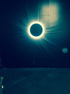 "The Adler Planetarium's ""Chasing Eclipses"" exhibit simulates a total solar eclipse that includes the cooling air and sounds. Jodie Jacobs photos"