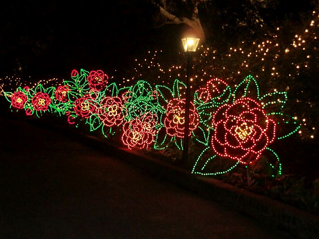 delightful lights and scenes are around every corner at bellingrath gardens outside movile al