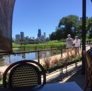 Views of city, Boardwalk and pond from The Patio at cafe Brauer. (Jacobs photo)