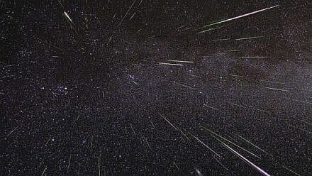 Meteor showers happen when Earth is in a comet's orbital path and comet debris fly across the sky. (NASA photo)