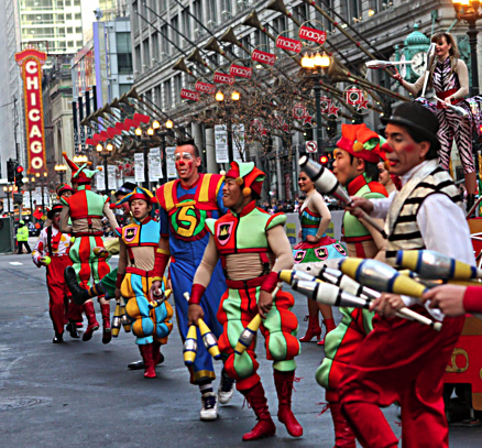 You never know what characters you will see in Chicago's Thanksgiving parade (JJacobs photo)