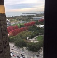 Some rooms at Hotel Julian have a partial view of Millennium Park. (J Jacobs photo)