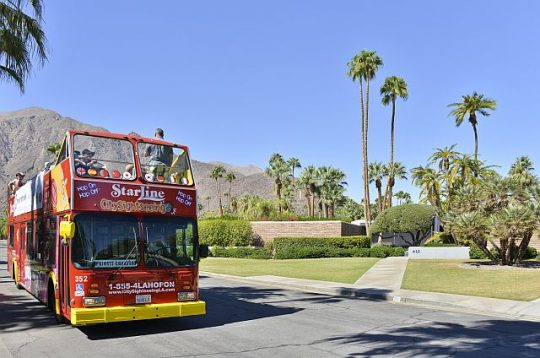 Bus tour of Palm Springs (David A. Lee photo)