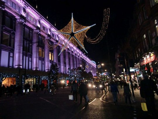 Oxford Street, London during the holidays. (J Jacobs photos)