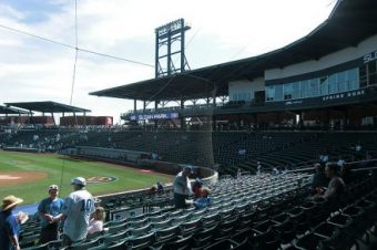 Sloan Park aka Wrigleville West before fans filter in. (J Jacobs photo)