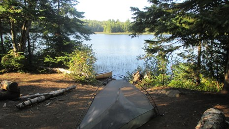 Camping photo at Isle Royale National Park. (Photo courtesy of National Park Service)