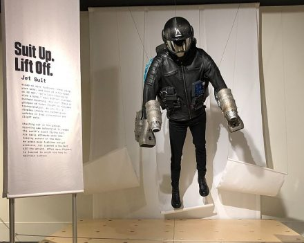 Jet Suit created by Richard Browning can travel more than 30 miles per hour and ascend to 12,000 feet. (Photo by J Jacobs)