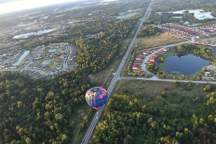 Ballooning over the Orlando Kissimmee area of Central Florida. (Kyle Johnson photo)
